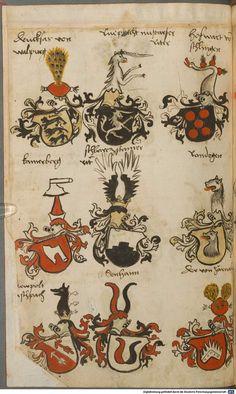 Wappen besonders von deutschen Geschlechtern Süddeutschland ?, 1475 - 1560 Cod.icon. 309  Folio 24v