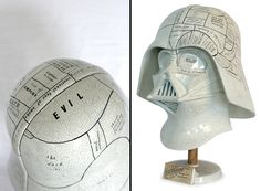 Darth Vader Phrenology Statue. The Vader Project