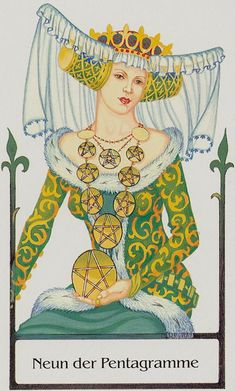Nine of Pentacles - Tarot of the Old Path