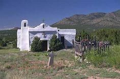 Church, Golden, New Mexico, USA
