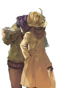 USUK kisses source: http://www.pixiv.net/member_illust.php?mode=medium&illust_id=24184460