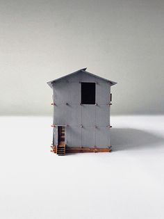 Study model for a proposed hotel in Cevennes mountains by Anna Pizova, Unit Cass School of Architecture Architecture Models, School Architecture, Anna, Study, Bird, Mountains, Outdoor Decor, House, Home Decor