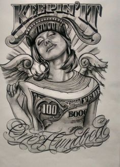 dollar impression on girl #chicano art