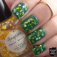 Love, Angeline - Sweet Decay (over OPI's Amazon...Amazoff) // 2013 Spellbound Collection // Polish Those Nails // indie polish - nail art - glitter - squiggles