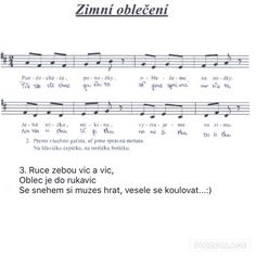 Zimní oblečení Winter Project, Sheet Music, Songs, Kids, Carnavals, Young Children, Boys, Children, Music Score