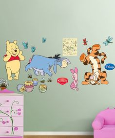 Take a look at this Winnie the Pooh Collection Wall Decals by Fathead on #zulily today!--I wish we could put the hundred acre wood up on our classroom walls :)
