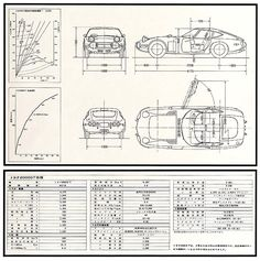 Toyota 2000GT - technical drawing #ForTheDriven #Scion #Rvinyl =========================== http://www.rvinyl.com/Scion-Accessories.html