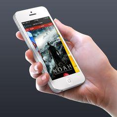 Lev Cinema Theaters - Concept idea for iOS7 app. on Behance
