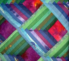 Cosmic Corridors Quilt detail | Wall quilt made with log cab… | Flickr
