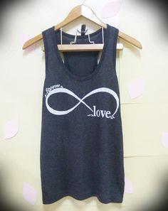 Infinity tank top love shirt forever cute tank top , women shirts, singlet, sleeveless top, clothing, fashion