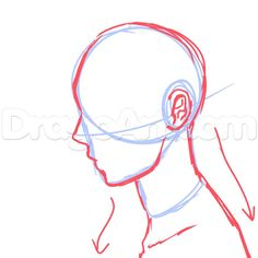 Side View Male Anime Face Drawing Tutorial