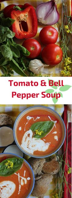 Soup recipe for a simple tomato and red bell pepper soup - lycopene and vitamin C rich, make it one of your staple soup recipes