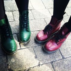 Dr. Martens  I Kind of feel like getting a pair and reliving my formative years. Hello dresses with docs!