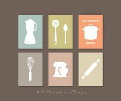 Cucina moderna arte Print  utensile apparecchio di 7WondersDesign
