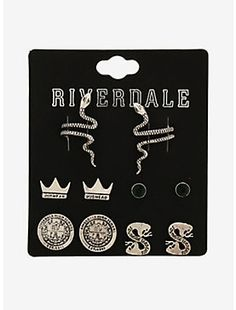 - Riverdale Southside Serpents Earring Set Hot Topic ExclusiveRiverdale Southside Serpents Earring Set Hot Topic Exclusive, Source by - Riverdale Merch, Riverdale Funny, Bughead Riverdale, Riverdale Archie, Riverdale Series, Riverdale Netflix, Style Indie, Style Grunge, Soft Grunge