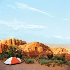 Camp in the park or book a night in Moab