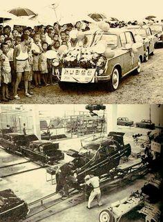 "1st ""Saenara"" automobile rolls off the line, 1962"