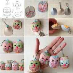 How to DIY Adorable Felted Owl / iCreativeIdeas.com