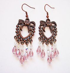 Dangle beaded earrings - crystal jewelry by RobertaValle