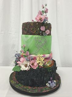 1st place - San Diego Cake Show 2016 - Amateur Main Cake Entry - Tiered Fondant