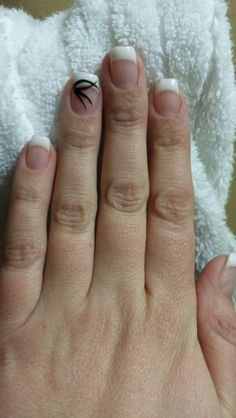 White French gel nails by Esthetics by Nicole