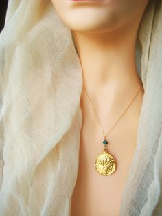Greek coin necklace