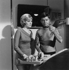 Nurse Christine and Dr McCoy Star Trek TOS