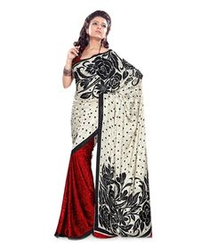 Adah White-Red Printed Art Crepe Saree, http://www.snapdeal.com/product/adah-whitered-printed-art-crepe/1359541?pos=6;15