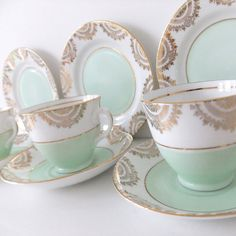 Vintage China Tea Set   Phoenix China in mint by peonyandthistle, £120.00