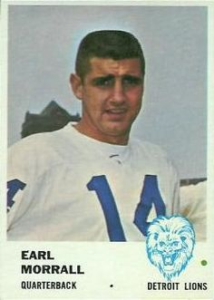 1961 Fleer #78 Earl Morrall Front Nfl Football Players, Football Memes, Football Cards, Football Jerseys, Baseball Cards, Nfl Detroit Lions, Detroit Sports, Baseball Classic, Vintage Football