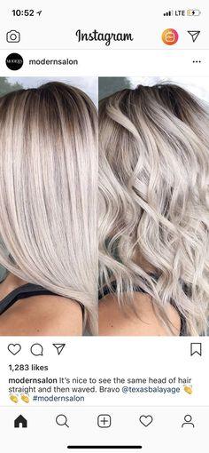 Brown Blonde Hair, Platinum Blonde Hair, Icy Blonde, Hair Color And Cut, Great Hair, Balayage Hair, Gorgeous Hair, Hair Looks, New Hair