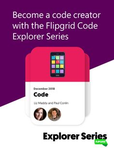 Give your students a hands-on STEM experience with the Flipgrid Code Explorer Series.   Each topic includes 🎥 behind-the-scenes videos, helpful resources, and fun activities to get your class excited about coding.    Learn more here!