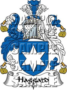 Haggard Family Crest apparel, Haggard Coat of Arms gifts