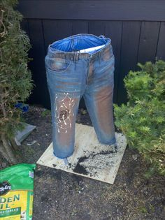 ... bury the board in mulch or whatever and enjoy your new denim garden