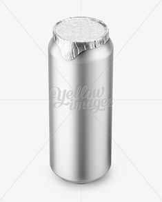 500ml Matte Aluminium Can W/ Foil Lid Mockup (High-Angle Shot)