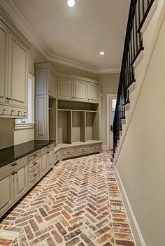Fobulous Laundry Room Entry & Pantries Ideas (Fobulous Laundry Room Entry & Pantries Ideas design ideas and photos Mudroom Ideas Design Entry Fobulous Ideas Laundry Pantries Photos room House Design, House, Interior, Home, Building A House, Home Remodeling, House Plans, New Homes, Brick Flooring