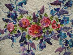 detail of quilt by BarbBroshaus at Quilt Colorado show in Loveland, July 2012. Photo by Luana Rubin, via Flickr