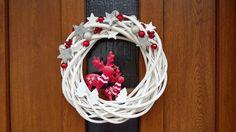 Potkali se dva sobi ..vánoční věnec na dveře