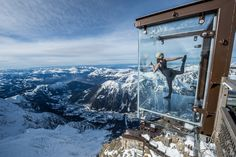 L'Aiguille du Midi (3842m) in Chamonix Mont-Blanc, Rhône-Alpes