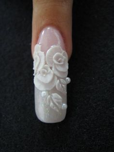beautiful, but shorter for sure 3d Nails, Love Nails, Pretty Nails, Swarovski Nails, Toe Nail Art, Nail Decorations, All Things Beauty, Manicure And Pedicure, 3 D