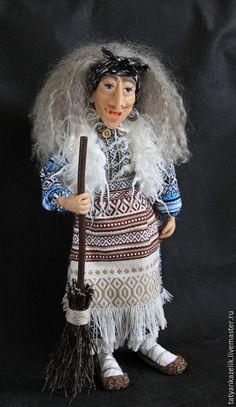 Сказочные персонажи ручной работы. Заказать Баба Яга(3). Татьяна Гаврилова. Ярмарка Мастеров. Яга, кукла, трикотаж, кудри овцы