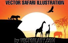 vector safari illustration