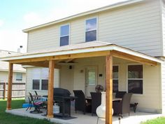 How to Build A Porch Roof with Beautiful Chair