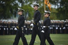 U.S. Naval Academy midshipmen lead their company past Chief of Naval Operations (CNO) Adm. Jonathan Greenert, the guest of honor and reviewing officer, during a pass and review midshipmen parade at the academy. (U.S. Navy photo by Mass Communication Specialist 1st Class Peter D. Lawlor/Released)