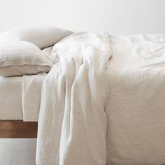 New - Stonewashed Linen Duvet Cover Linen Sheets, Linen Bedding, Bed Linens, Bedding Sets, Bed Sheets, Awesome Bedrooms, Flat Sheets, Bedding Collections, Decoration