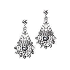 I love the Jardin Lace Pendulum Crystal Earrings from LittleBlackBag