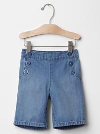 1969 sailor denim culotte shorts