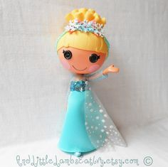 Lalaloopsy Clothes  Elsa  Frozen  Princess  Dress & Headband by AndLittleLambsEatIvy, $30.00