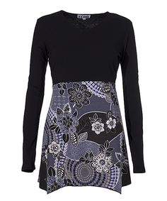 Take a look at this Black Floral A-Line Tunic today!