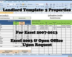 25 Property Tracking – Expense and Rental Income Tracking Template ...